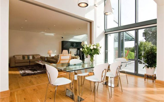 Waterways contemporary modernist property in Lisvane, near Cardiff, South Wales