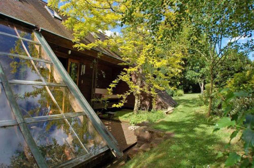 On the market: Five-bedroomed Scandinavian-style lodge in Redmarley, Gloucestershire