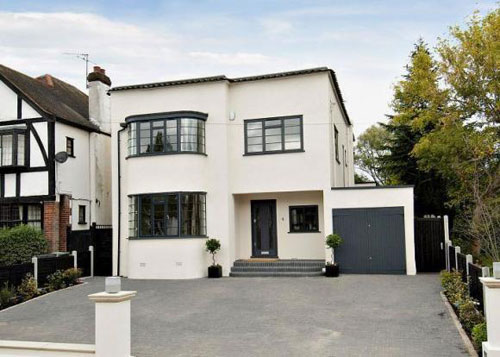 Refurbished four-bedroom art deco property in Loughton, Essex