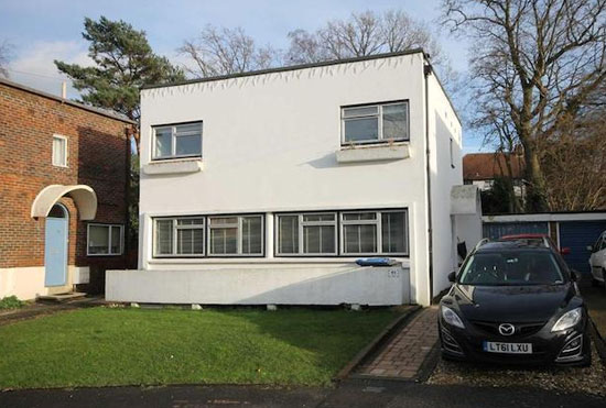 On the market: 1930s Berthold Lubetkin-designed grade II-listed modernist house in Haywards Heath, West Sussex