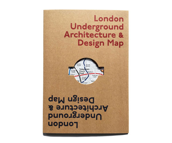 London Underground Architecture and Design Map by Blue Crow Media