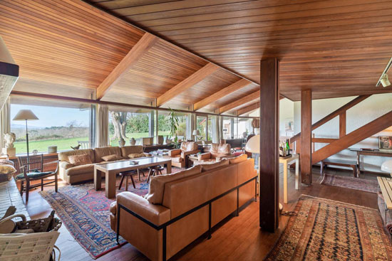 1970s Jean-Raphael Hebrard modern house in Arcangues, south-west France