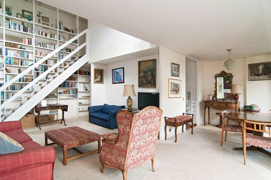Barbican living: Split level apartment in Mountjoy House on the Barbican Estate, London EC2