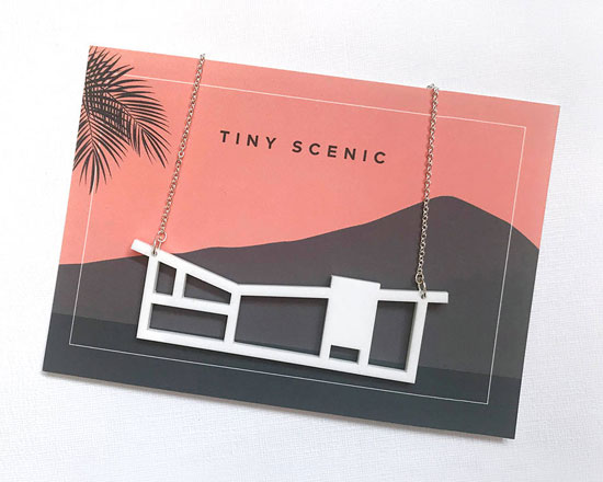Design spotting: Midcentury modern house jewellery by Tiny Scenic