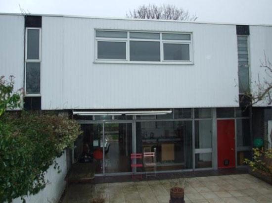 On the market: 1960s Edward Schoolheifer-designed three-bedroom modernist Lyon property in Manygate Lane, Shepperton, Middlesex