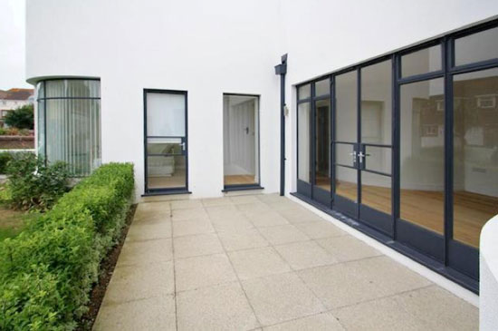 Ground floor apartment in the 1930s art deco Manor Road Garage in East Preston, West Sussex