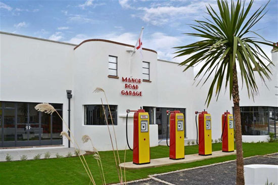 Apartments in the newly-renovated 1930s art deco Manor Road Garage in East Preston, West Sussex