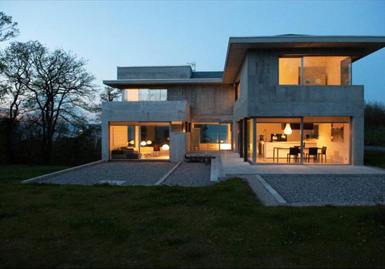 Contemporary modernist property in Maxilly Sur Leman, Lake Geneva, France
