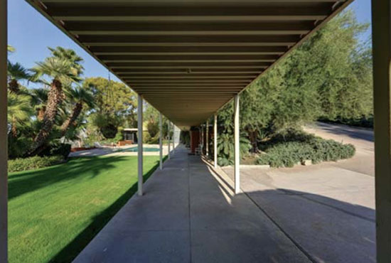 1960s Hugh M. Kaptur-designed The McQueen House in Palm Springs, California, USA