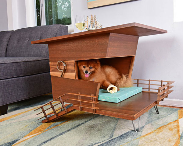 Midcentury modern dog house range by Pijuan Design