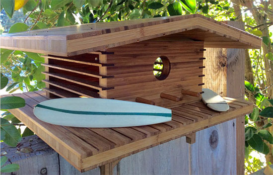 Design spotting: Midcentury modern birdhouses by Sourgrassbuilt