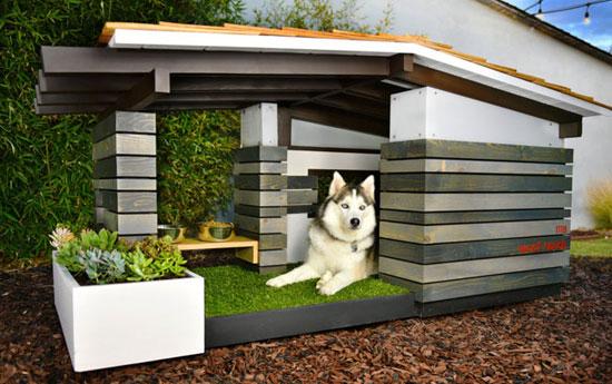 Midcentury modern dog house range by Pijuan Design