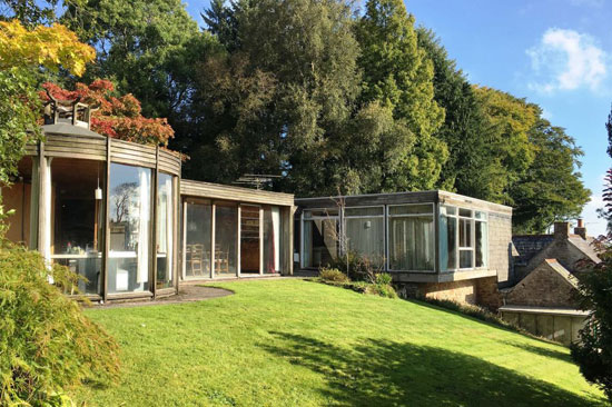 1960s Ray Moxley and Tim Organ-designed modernist property in Chewton Mendip, Somerset