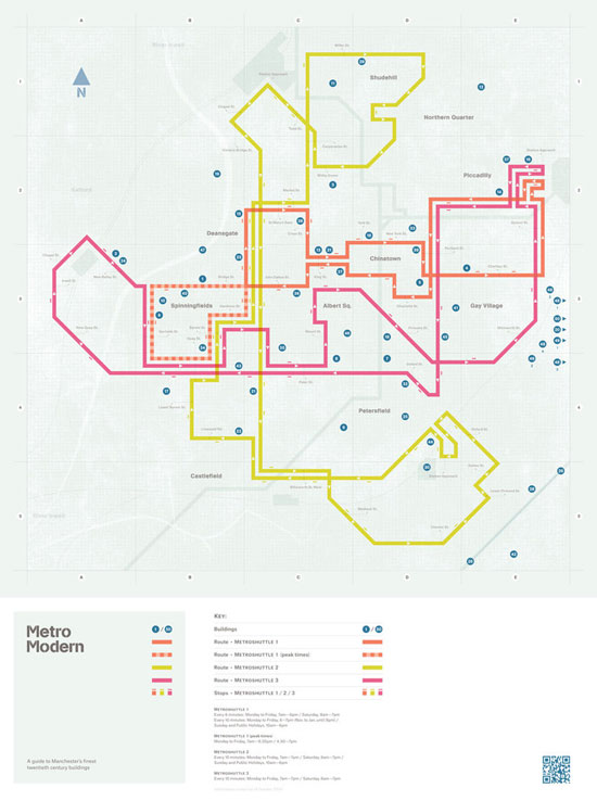News: Metro Modern - a map and guide to Manchester's Twentieth Century Architecture