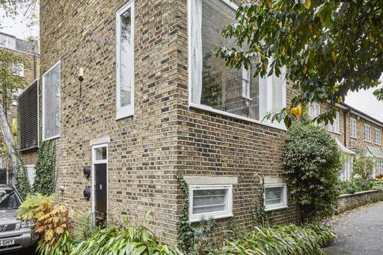 1960s John Winter modernist mews house in London NW1