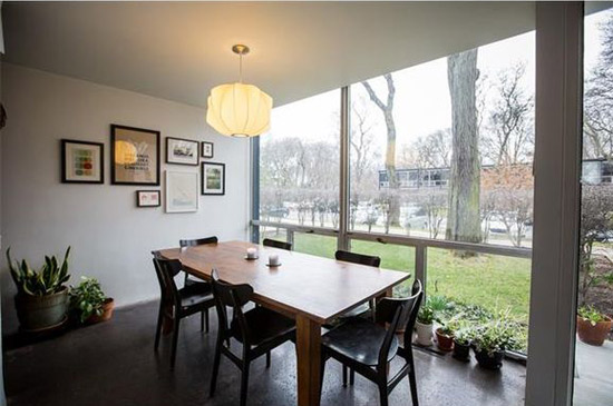 On the market: 1950s Mies Van Der Rohe-designed townhouse in Lafayette Park, Detroit, Michigan, USA