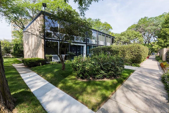 Mies Van Der Rohe-designed townhouse in Lafayette Park, Detroit, Michigan, USA