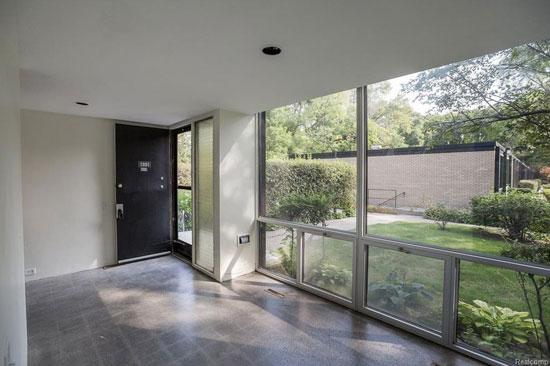 Mies Van Der Rohe-designed townhouse in Lafayette Park, Detroit, Michigan, USA