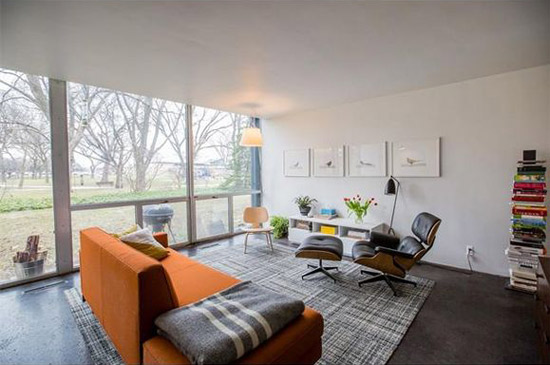 1950s Mies Van Der Rohe-designed townhouse in Lafayette Park, Detroit, Michigan, USA