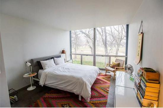 1950s Mies Van Der Rohe-designed townhouse in Lafayette Park, Detroit, Michigan, USA