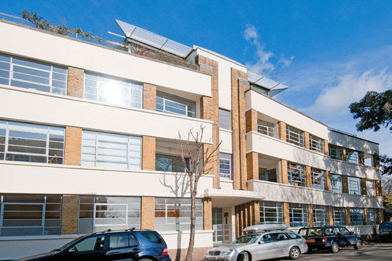 On the market: Three-bedroom loft apartment in 1930s Mica House, Barnsbury Square, Islington, London N1