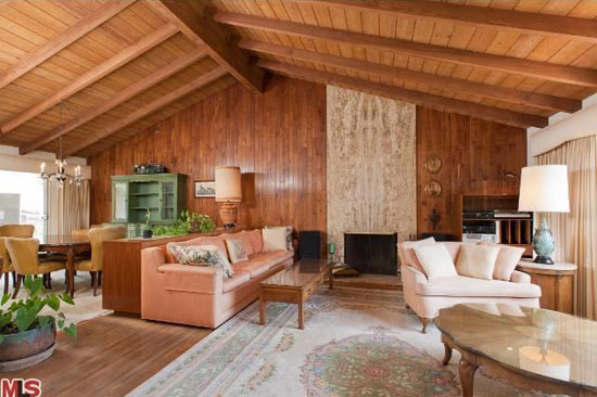 1950s four-bedroom midcentury ranch-style property in Pacific Palisades, Los Angeles, California, USA
