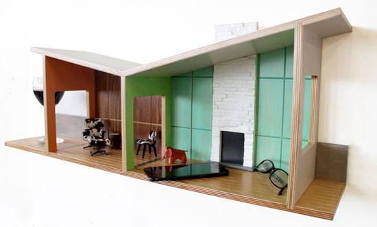 Midcentury Modern House Shelves by Judson Beaumont for Straight Line Designs