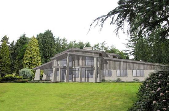 1960s John Madin-designed Juniper Hill midcentury modern property in Lapworth, West Midlands