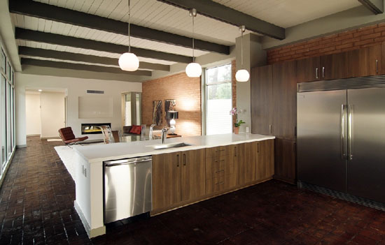 Renovated midcentury modern two-bedroom house in Houston, Texas, USA