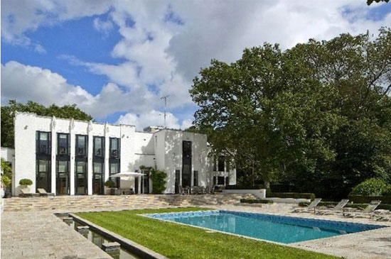 D E Harrington-designed The Whitehouse 1930s modernist property in Mill Hill, London NW7