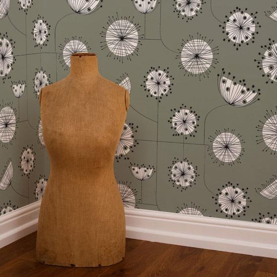 1950s-style Dandelion Mobile wallpaper range by MissPrint