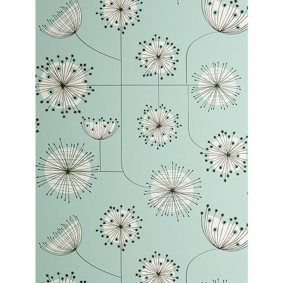 1950s-style Dandelion Mobile wallpaper range by MissPrint
