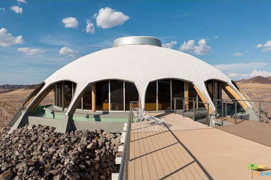 On the market: 1970s space age Volcano House in Newberry Springs, California, USA