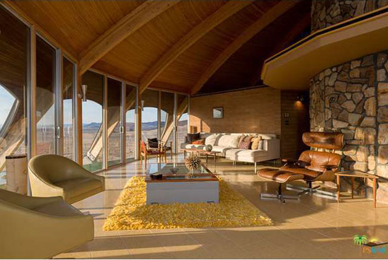 1970s space age Volcano House in Newberry Springs, California, USA