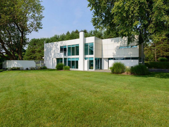 On the market: 1980s four-bedroom modernist property in Lloyd Harbor, New York state, USA