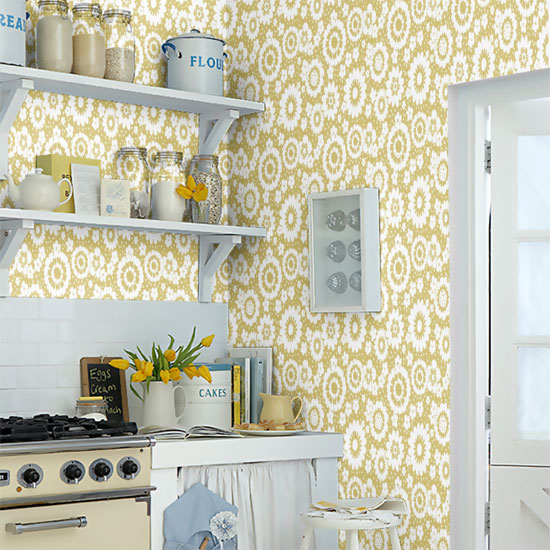 Design spotting: 1960s-style Mod Meadows wallpaper by Layla Faye