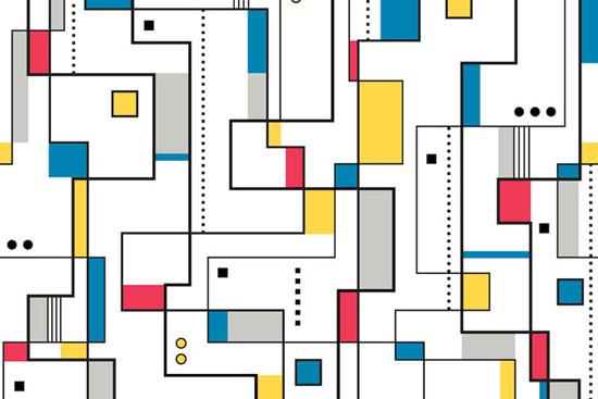 Design spotting: Mondrian-style flooring at Atrafloor