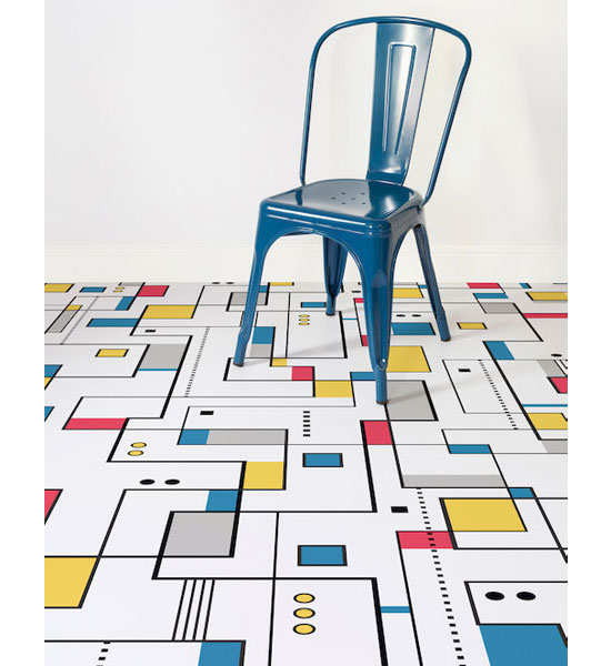 Design spotting: Mondrian-style flooring at Atrafloor