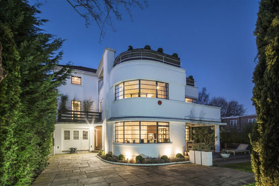 1930s Ernst L Freud art deco house in Hampstead Garden Suburb, London N2 back on the market