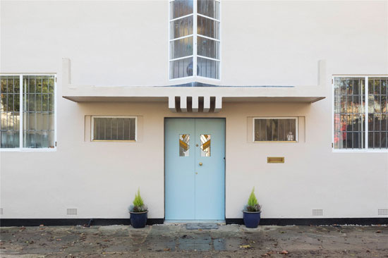 1920s Peter Behrens-designed New Ways art deco house in Northampton, Northamptonshire