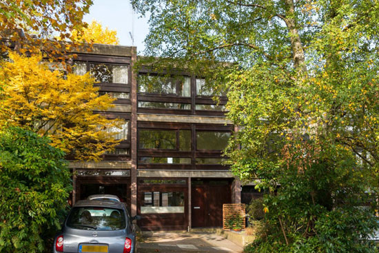 On the market: 1960s Harley Sherlock-designed modernist townhouse in London N6