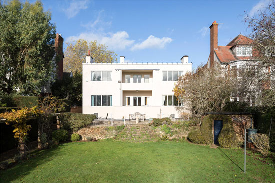 1920s Peter Behrens-designed New Ways art deco house in Northampton, Northamptonshire