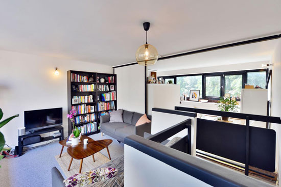 1970s Neave Brown modernist apartment in Rowley Way, London NW8