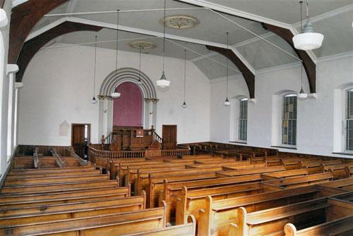 Disused Stryd Moriah chapel in Nefyn, Gwynedd, North Wales