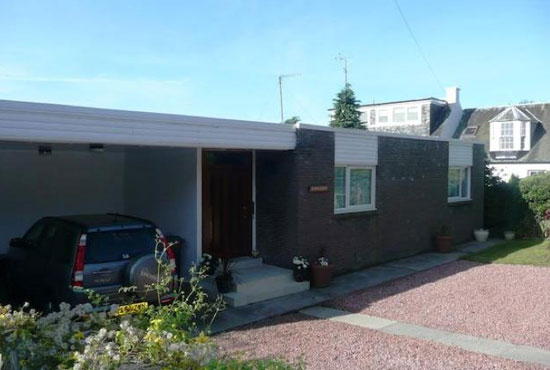 1970s modernist single-storey property in Nemphlar, South Lanarkshire, Scotland
