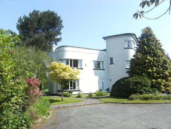 Hubert Thomas-designed 1930s art deco five-bedroom property in Neston, Cheshire