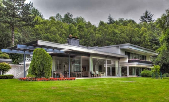 Richard Neutra modernist house in Wuppertal, Germany