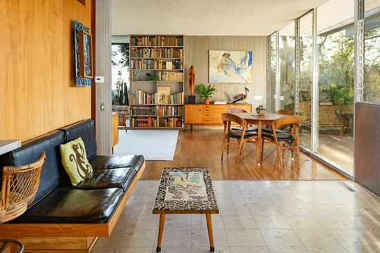 1960s Richard Neutra modernist house in Brentwood, California, USA