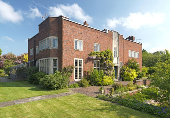 Grade II-listed Edgar Wood-designed Upmeads property in Stafford, Staffordshire