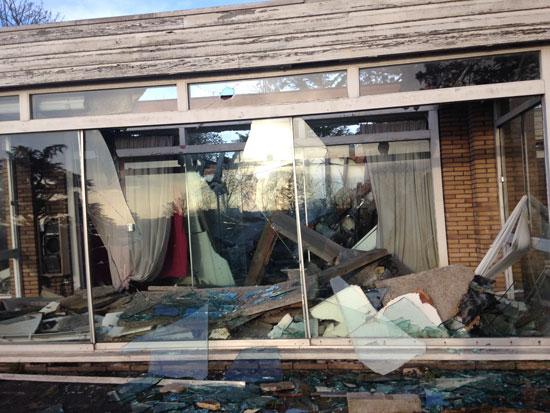 Now derelict: 1960s midcentury modern property in Newark, Nottinghamshire